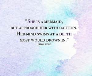 quotes, mermaid, and deep image