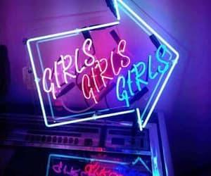 beautiful, girls, and neon image