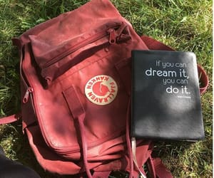 backpack, burgundy, and fjallraven kanken image