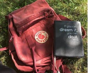 backpack, burgundy, and fjallraven kanken image