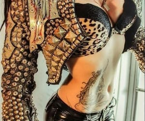 animal print, fashion, and goth image