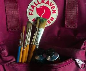 artsy, backpack, and burgundy image