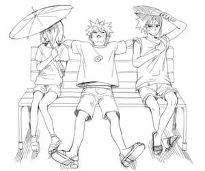 sasuke uchiha, naruto uzumaki, and sakura haruna image