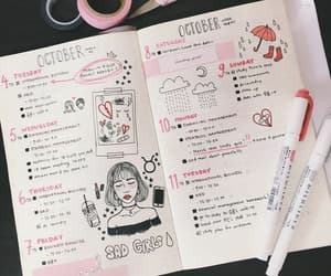 bullet journal, pink, and bujo image