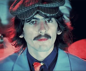 60s, the beatles, and george harrison image