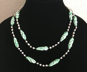 beads, necklace, and st patricks day image