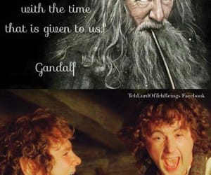 gandalf, LOTR, and frodo baggins image