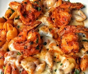 cheese, food, and shrimp image