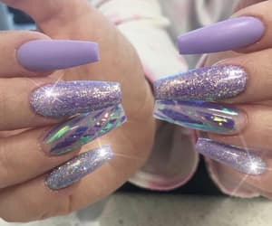 glam, glitter, and manicure image