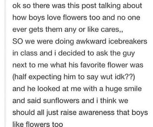 awareness, boys, and flowers image