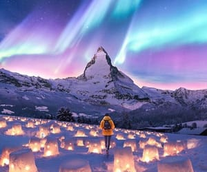 snow, light, and travel image