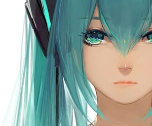 miku, vocaloid, and hatsune miku image