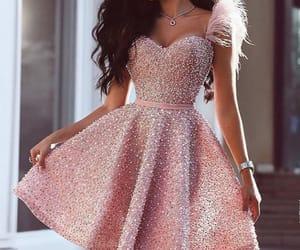 dress, fashionable, and vestido image