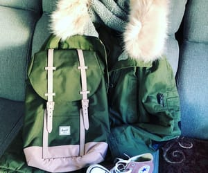 autumn, backpack, and converse image