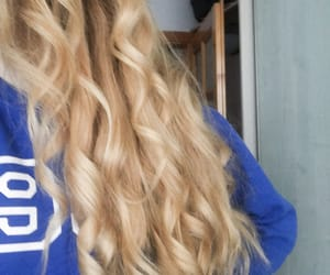 blonde, curly, and girls image