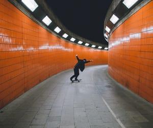 skate, orange, and boy image