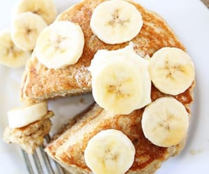 bananas, food, and pancakes image