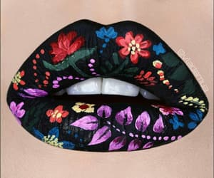 lips, art, and makeup image