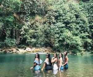 girl, cachoeira, and meninas image