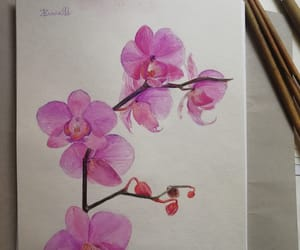 art, colours, and flower image