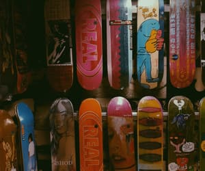 colorful, deck, and skateboard image
