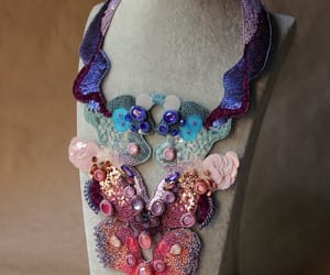 costume jewelry, wearable art, and crystal necklace image