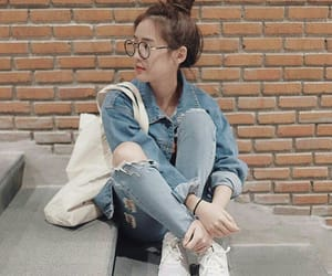 1997, glasses, and jeans image