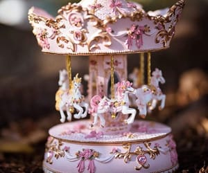 carousel, girly, and horse image