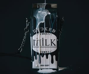 bag, milk, and wicked image
