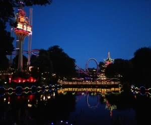 amusement park, lights, and park image
