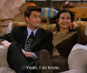 chandler, chandler bing, and monica image