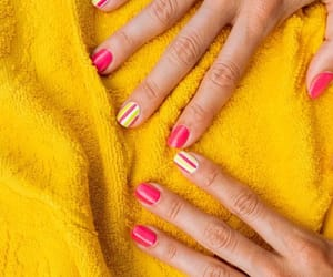 girl, pink, and hands image