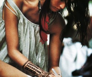 tattoo, feather, and indian image