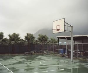 rain, Basketball, and nature image