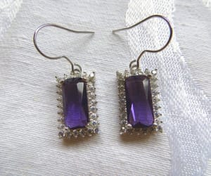 etsy, dangle earrings, and gemstone jewelry image