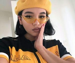 aesthetic, girl, and yellow image