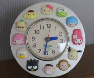clocks, kawaii, and sanrio image