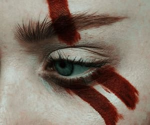 blood, makeup, and eye image