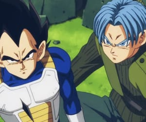 trunks, dragon ball z, and vegeta image