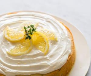cake, lemon, and food image