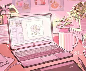 gif, pink, and aesthetic image