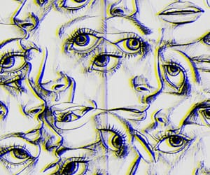 art, face, and eyes image