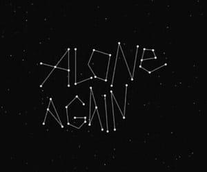 alone, stars, and black image