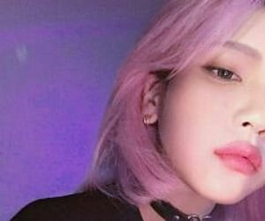 kawaii, violet hair, and korea image
