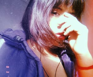 flequillo, girls, and purple image