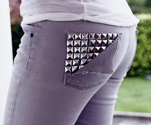 fashion, jeans, and studs image