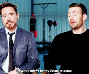 chris evans, gif, and robert downey jr image