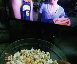 night, popcorn, and huji image