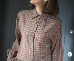 etsy, gingham dress, and long sleeves dress image