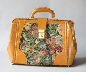 etsy, doctor bag vintage, and floral tapestry bag image